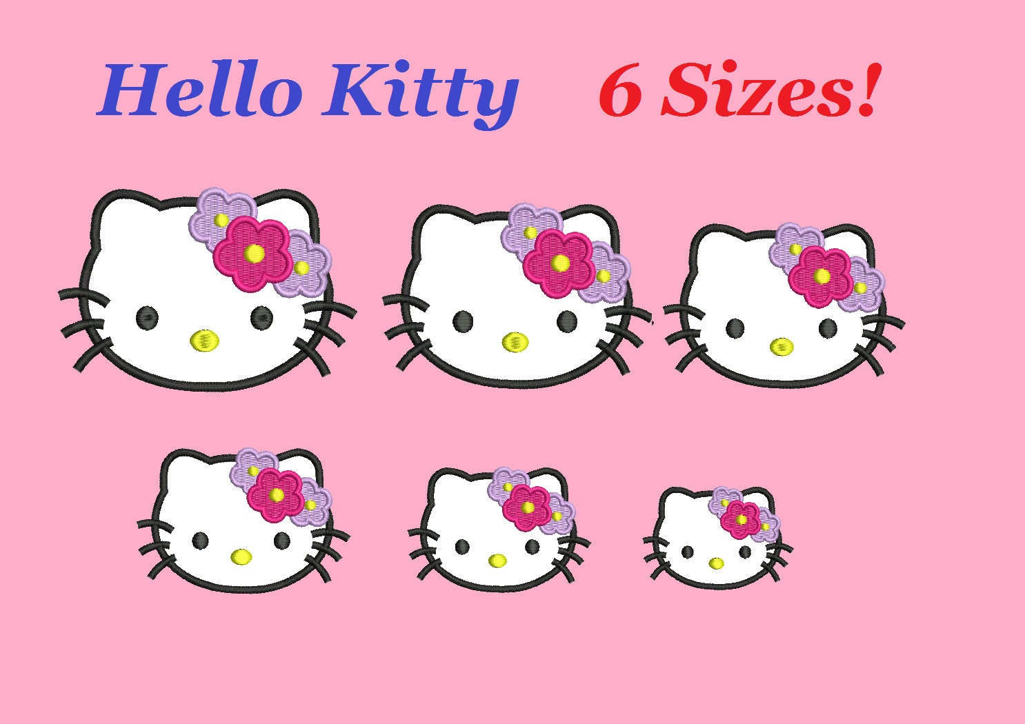 Hello kitty embroidery designs applique by smartembroideryweb