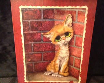 Vintage Decoupage Cat