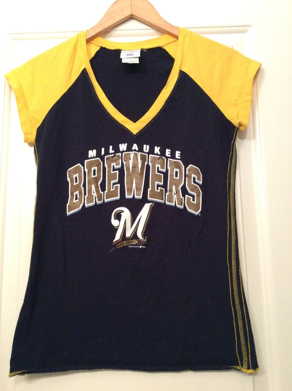 vintage inspired milwaukee brewers ringer t shirt