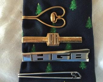 Four Vintage Tie Bars