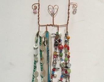 Copper wire jewellery hanger