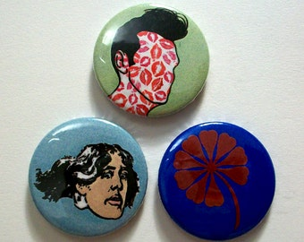 Set of 3 Morrissey Inspired Pin Button Badges