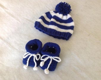 Newborn - 6 months Baby Hat and Booties