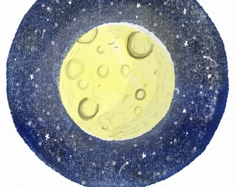 Moon Print Postcard