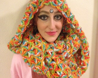 Hooded Priestess Infinity Scarf