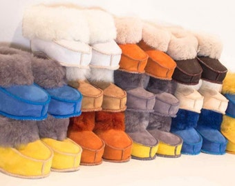 Slippers Sheepskin returned unisex