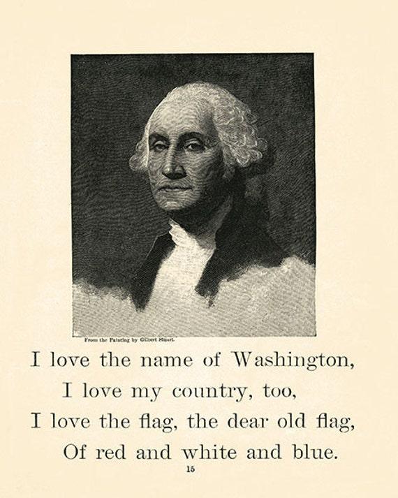 Vintage Style George Washington Art Print - Presidential Prints - Farmhouse - Wall Art - Mixed Media - Altered Art - Home Decor
