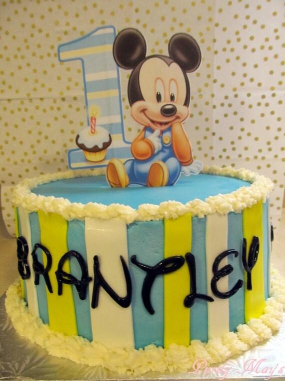 Baby Mickey Cake Topper baby Mickey first birthday cake topper