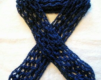 Handmade crochet net scarf