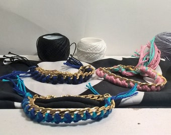 Braids and chain bracelets
