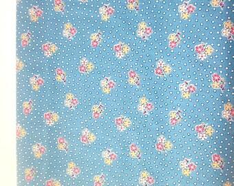Yardage of Windham Fabric's StorybookVIII Blue with Little  Flowers