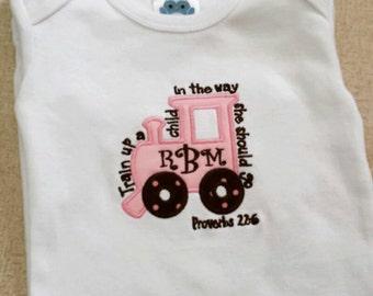 Monogrammed Baby Gown/Onesie