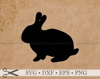 BUNNY SVG Easter Bunny Silhouette Svg Dxf Eps Png Files DigitaI