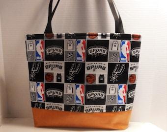 Extra Large San Antonio Spurs Tote Bag Purse