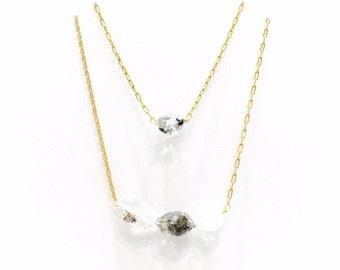 Diamond Quartz Necklace