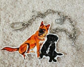 Custom Pet Necklaces, Custom Pet Keychains, Pet Charms, Hand Drawn, Shrink Plastic