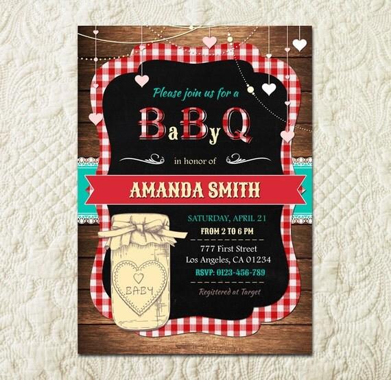 baby q invitation babyq baby shower invitation backyard bbq invite