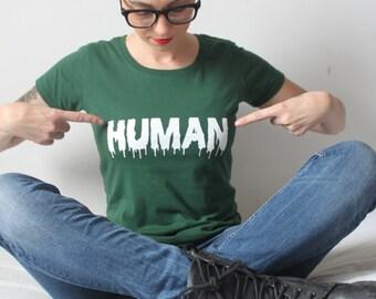 HUMAN organic cotton womens tshirt