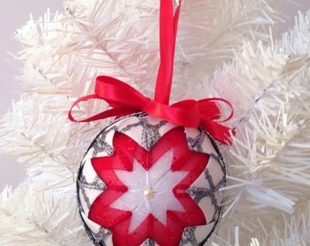 Red, White , and Black Ornament