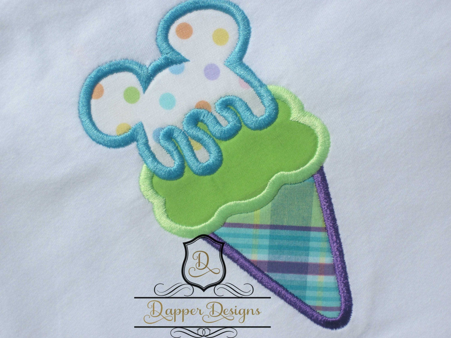 Mouse ice cream machine embroidery applique design use coupon