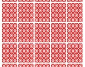 Red Argyle Full Boxes