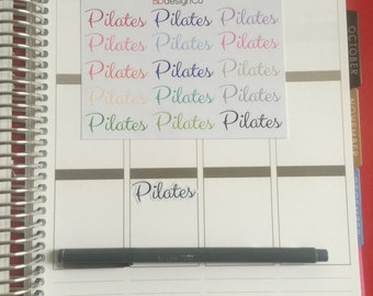 15 Pilates Planner Stickers for Erin Condren Life Planner, Happy Planner, Filifax or Bullet Journals