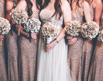 Bridesmaids Book Paper Bouquet