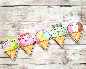 Cute Ice Cream/Magnetic Bookmark