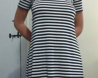 vtg Animations Striped Girls Dress