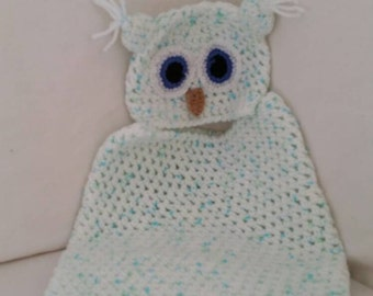 Cute Owl Baby Cocoon and Hat / photography prop / photo shoot / baby photos / baby clothes /dolls clothes
