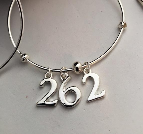 Runner Charm Bracelet - Running Jewelry - Marathon Bracelet - Sports Charms Bracelet - Numbers Charms - Race Jewelry
