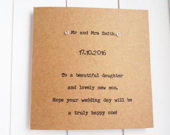 Personalised Wedding Card Daughter