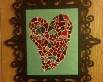 Heart Mosaic wall decor