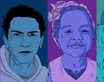 Custom Family portrait 4-6 people