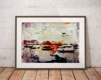 Waterworld XIV by Sven Pfrommer - Artwork is ready to hang with a solid wooden frame