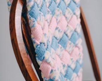 Knit Entrelac Girl Blanket