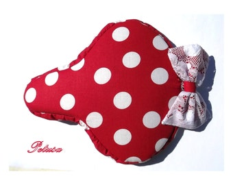 Red polka dotted seat cover, saddle cover bike bicycle Sattelbezug