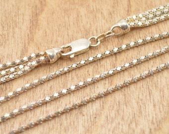 Popcorn Chain Necklace Sterling Silver 13.1g Vintage Estate