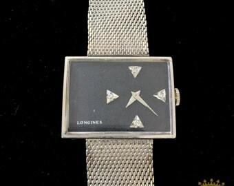 Longines Swiss 17 Jeweled Rectangular Wrist Watch