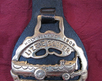 Rare Horse Brass Lizzie Porter Life Boat Holy Island 1909