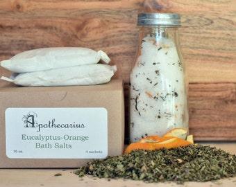 Apothecarius Eucalyptus-Orange Therapeutic Bath Salt Sachets (4)