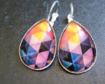 """""""Geometric"""" drop earrings"""