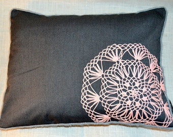 Grey decorative Pillow Cover- pillow cover, pillow, cushion cover, decorative, home decor, embroidered