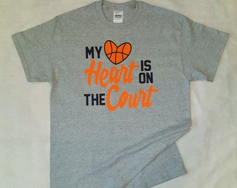 My Heart is on The Court shirt