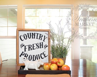 Country Fresh Produce, handmade sign