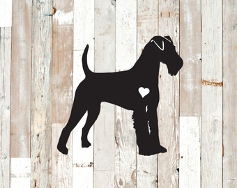Irish Terrier permanent decal for windows, cars, walls, etc.  Many color choices available.