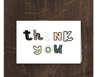 Thank you card — Set of 20