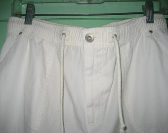 Baxter & Wells 100% Cotton White Pants/Slacks