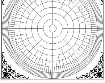 "Genealogy Circle Chart - Blank 16"" x 20"""