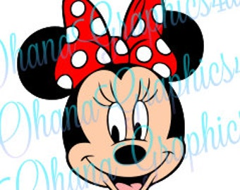 Minnie Head w/ Red Bow SVG